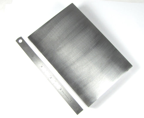 "steel bench block, 6 x 4 x .75 "", large polished block, stamping block, forging metal work - Romazone"