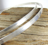 Massive Masculine Sterling cuff wire for bold, strong, beefy, statement cuffs. 7 inch length  3/8 x 1/8 - Romazone
