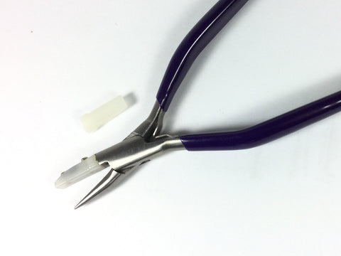 Nylon Jaw pliers, round nose, scratch free work, Box joint with spring, precision quality - Romazone