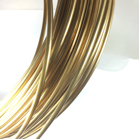 Half Round, 6 gauge Red Brass Wire, 10 ft.,  great for cuffs, tribal bracelet, gold bangles - Romazone