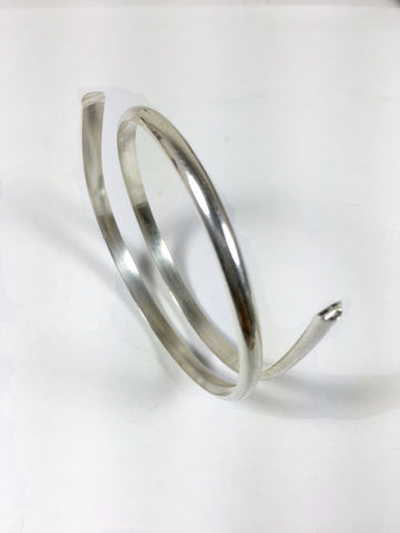 half Round,8 gauge, sterling silver wire, 1 ft, cuff wire,bangle wire, ring wire, 3.25mm x 1.63 mm - Romazone