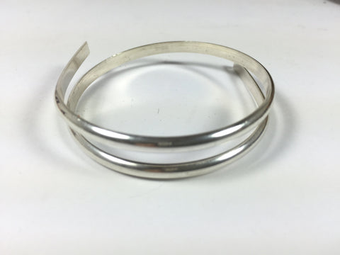 half Round sterling  wire, sold by 1 foot, heavy 6 gauge size, solid wire that makes rings, wrist bangles,  silver cuffs - Romazone