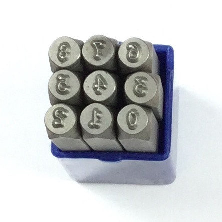 Piccadilly 3mm number set for metal stamping. Digit stamping - Romazone