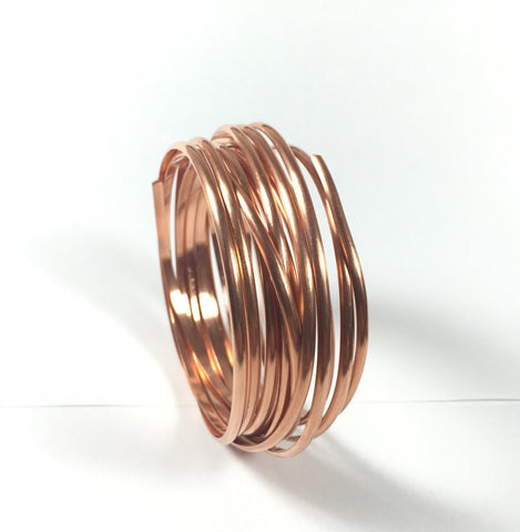 Half Round Copper wire, big half round, 10 ft of 8 gauge, great for rings, bangles and cuffs - Romazone