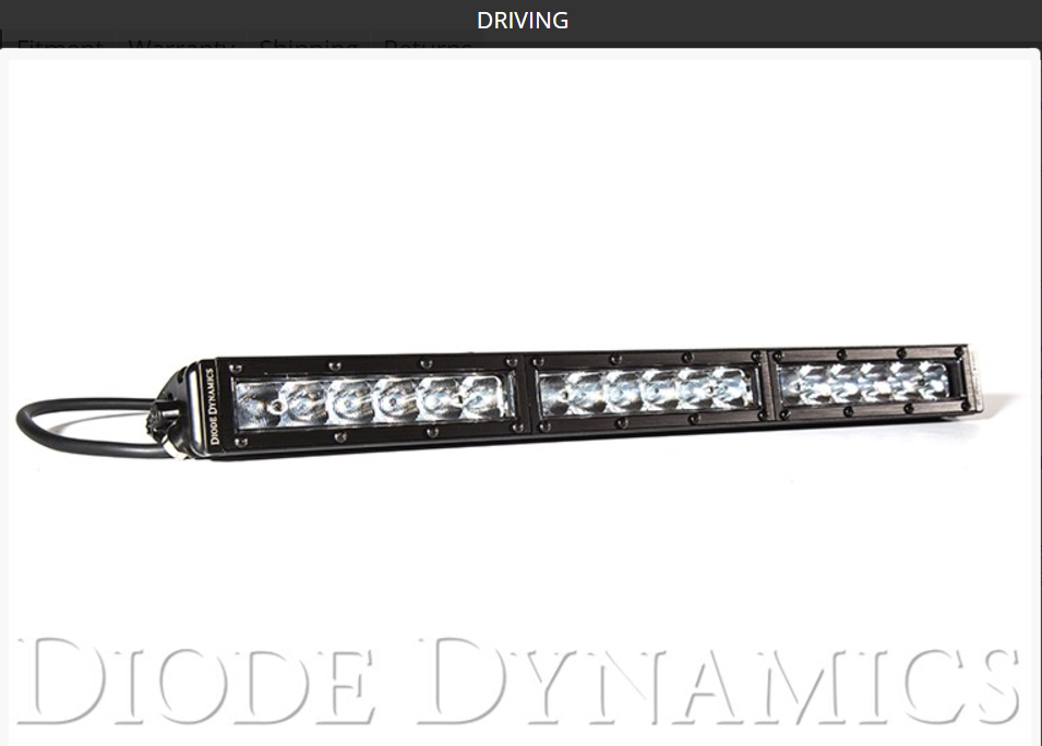 "SS18 Stage Series 18"" White Light Bar"