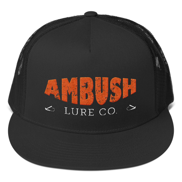Ambush Lure Co Logo Flat Bill Trucker Cap