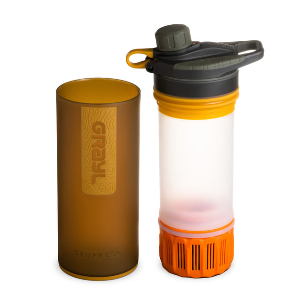 GRAYL® GEOPRESS™ Water Purifier Bottle | Separated - Coyote Amber