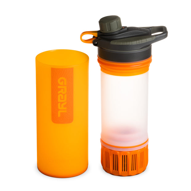 GRAYL® GEOPRESS™ Water Purifier Bottle | Separated - Visibility Orange