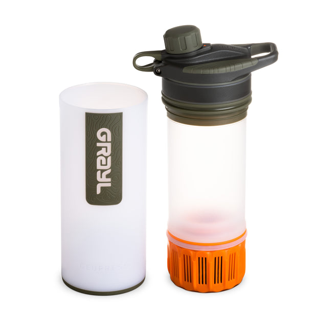 GRAYL® GEOPRESS™ Water Purifier Bottle | Separated - Alpine White