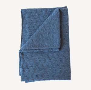 Merino knitted blanket - Charcoal