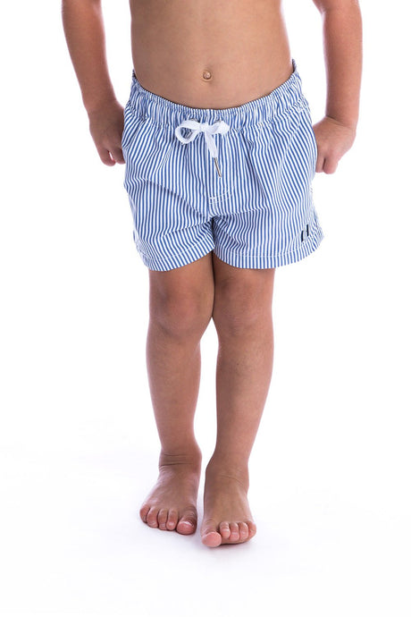 Coastal Pinstripe Swim Short - Kids