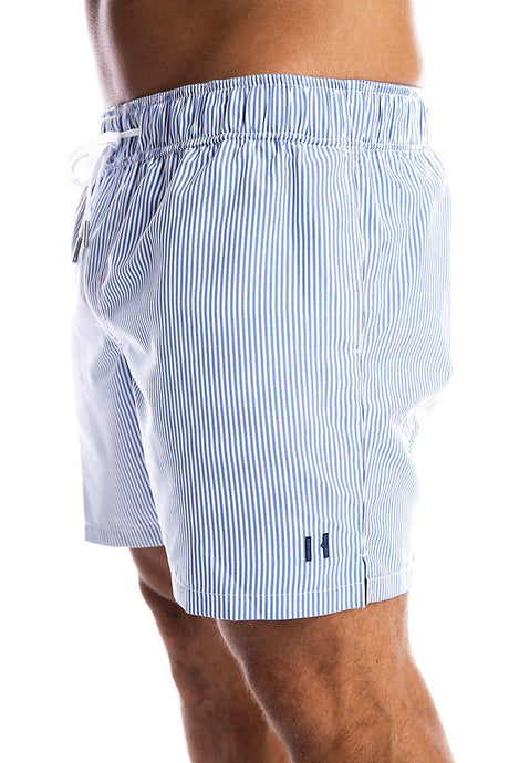 Coastal Pinstripe Swim Shorts - Adult