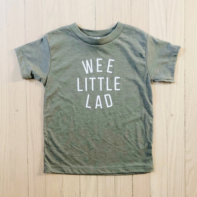 Wee Little Lad Tee - Olive Green