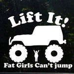 LIFT IT DECAL