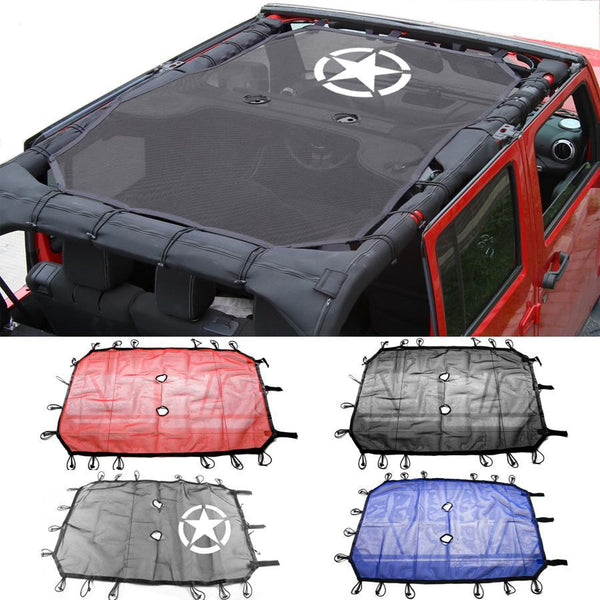 jeep mesh roof  sunshade