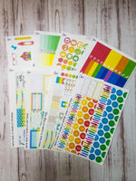 Back to school full sticker kit to fit the Erin Condren vertical life planner