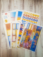 Autumn Air 8 page full sticker kit for the Erin Condren vertical life planner