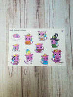 Reign the dragon Halloween costume sticker sampler