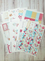Christmasland gingerbread full 8 pg sticker kit for the Erin Condren vertical life planner