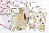 Dearly Beloved-Wedding photography sticker kit to fit the Erin Condren vertical life planner