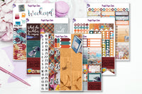 DragonFly Inn 6 page full sticker kit to fit the Erin Condren Vertical Life Planner