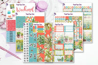 Succ it up, Buttercup! Full 6 page sticker kit to fit the Erin Condren Vertical Life Planner
