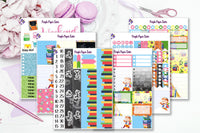 School Days 6 Page Full Sticker kit to fit the Erin Condren Vertical Life Planner
