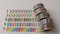 Chevrons and Stripes Washi Tape Sample