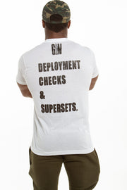 Deployment Checks & Supersets | Men's Tee (Military Only)
