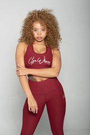 FitGirl Sports Bra| Cranberry