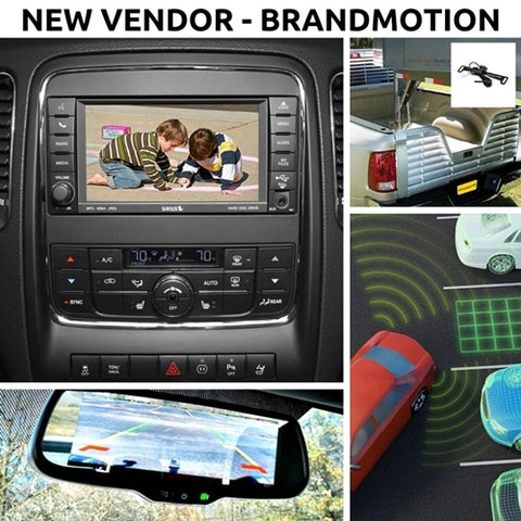Brandmotion Rear View Cameras, 360-degree vision and proximity sensors