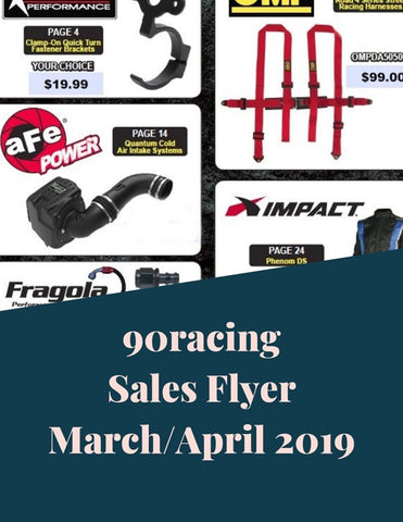 90racing Sales Flyer March/April 2019