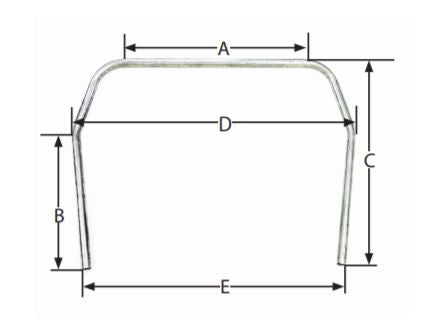 ALL22692 Roll Cage Dimensions