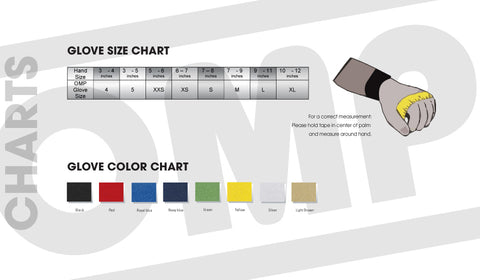 OMP Gloves Size Chart