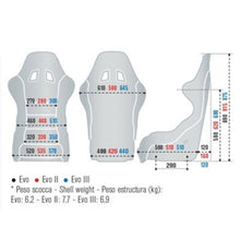 Sparco Evo II Seat Dimensions