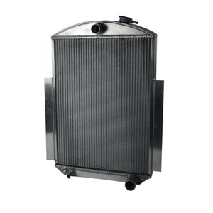 AFCO Racing Aluminum Satin Radiator and Shroud 1938-46 GM Truck Single Satin Shroud Chevy 80147-S-SS-N