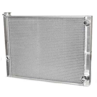 AFCO Racing Double Pass Radiator Chevy 27.5 X 19 X 1.50 Core, Universal 20 AN Female Inlet with 1/2 bung 80185NDP-U
