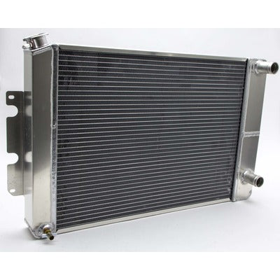 AFCO Racing Aluminum Satin Radiator 1966-67 Chevelle LSX Double Pass Crossflow 84252-S-NA-N