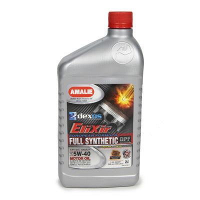 Amalie Elixir Full Synthetic 5W40 Motor Oil Dexos2 European Formula
