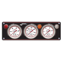 Longacre 3-Gauge Aluminum Panel w/Sportsman™ Gauges - OP,WT,FP 44433
