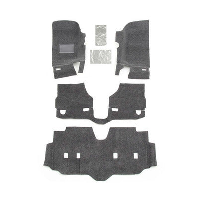 BedRug Jeep Floor Liner - 2007+ Jeep JK Unlimited 4 Door 4 Pc Floor Kit