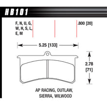 Hawk Brake Pads HB101S800 Superlite/XL HT-10