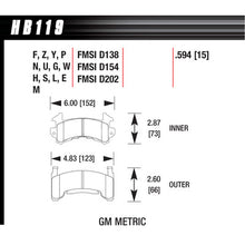 Hawk Brake Pads HB119G594 Metric GM DTC-60