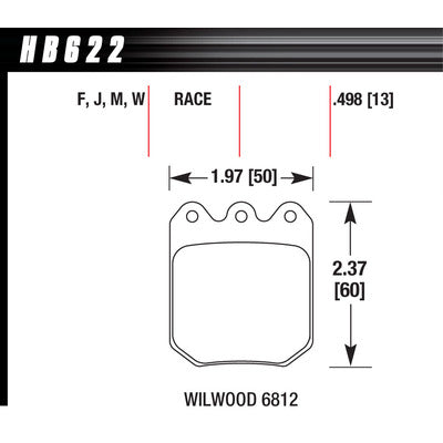 Hawk Brake Pads HB622M490 Wilwood DLS Black 6812