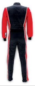 Impact Racer Suit - Back - Black/Red