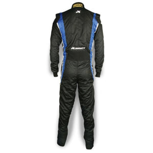 Impact Racing Phenom Race Suit Black/Blue Back