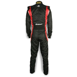 Impact Racing Phenom Race Suit Black/Red Back