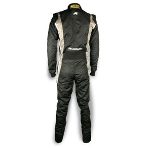 Impact Racing Phenom Race Suit Black/Gray Back