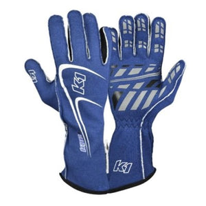 K1 RaceGear Track 1 Race Gloves Blue