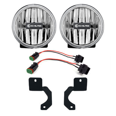 KC HiLiTES G4 LED Amber Fog Lights 509 - Jeep Wrangler JL
